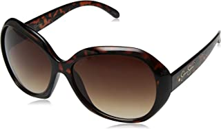Women's J5662 Over-Sized Oval Sunglasses with 100% UV Protection, 74 mm