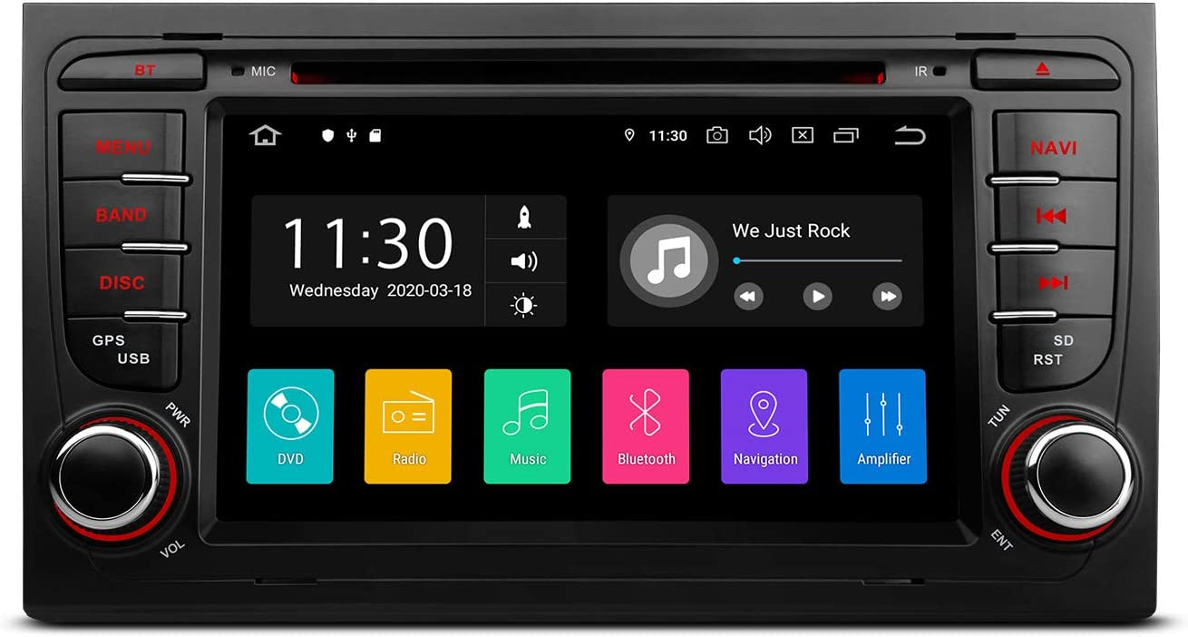 Cream 2007-2015 XTRONS 7 Android 10.0 Car Stereo Single DIN Bluetooth GPS Navigation Radio Built in DSP Supports CarAutoPlay Full RCA Backup Camera WiFi OBD2 DVR TPMS for Fiat 500
