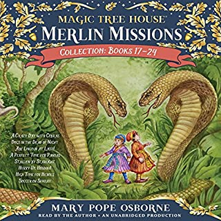 Merlin Mission Collection     Books 17-24              Written by:                                                                                                                                 Mary Pope Osborne                               Narrated by:                                                                                                                                 Mary Pope Osborne                      Length: 13 hrs and 24 mins     3 ratings     Overall 4.0