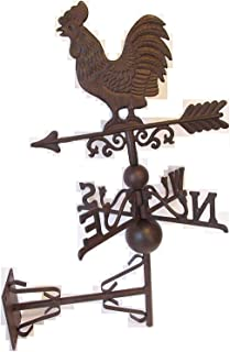 Rusty and Weathered CAST Iron Side Mount Chicken WEATHERVANE