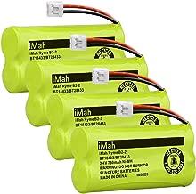 iMah BT18433 BT28433 2.4V 750mAh Ni-MH Cordless Phone Battery Pack Compatible with Vtech BT18433/BT28433 CS6219 CS6229 DS6301 DS6151 DS6101 BT184342 BT284342 BT-1011 BT-1018 BT-1022 BT-1031, Pack of 4