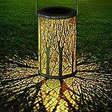 LED Lanterna Solare, GolWof Lampada da Giardino Luci Solari Sospensione Disegno marocchino...
