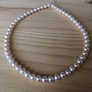 Collar de perlas rosadas de agua dulce natural