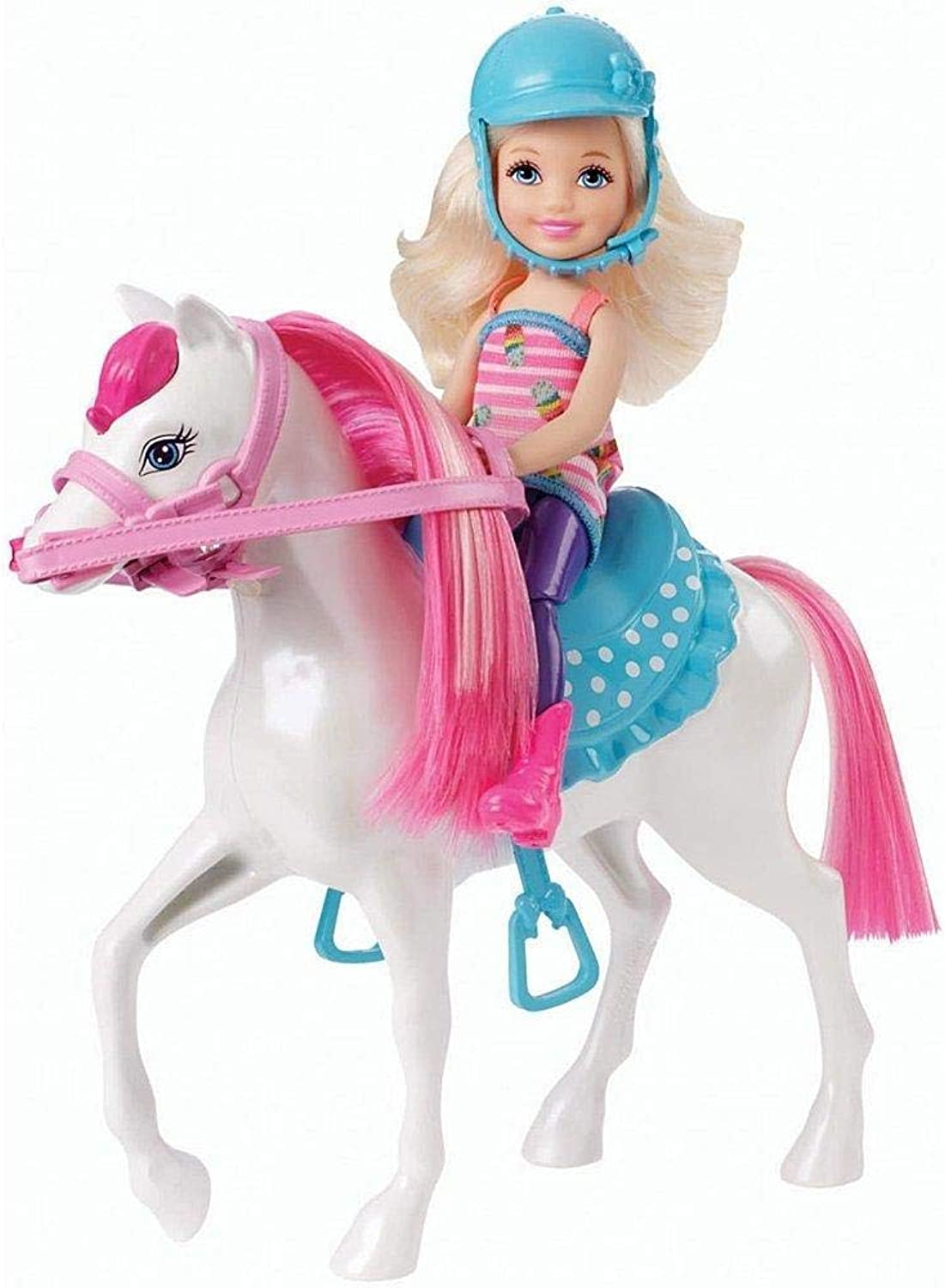 Barbie  doll  Chelsea and her Pony