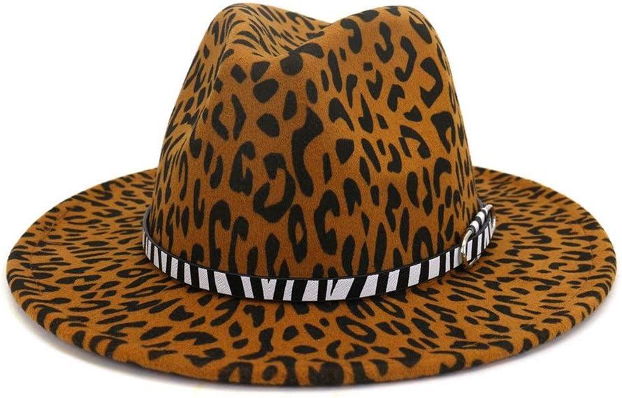 no-branded Wide Brim Cotton Fedora Hat Elegant Ladies Winter Autumn Top Hats for Church Ladies Hats ZRZZUS (Color : Dark Khaki, Size : 59-60cm)