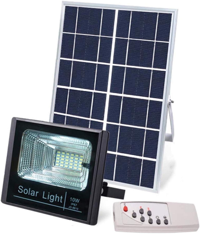 WFTD Solar-Flutlichter, 10W wasserdichtes IP67-Gartenlicht 500 Lumen mit Fernbedienung und Timing-Funktion Solarlicht geeignet für Gartengaragen usw.