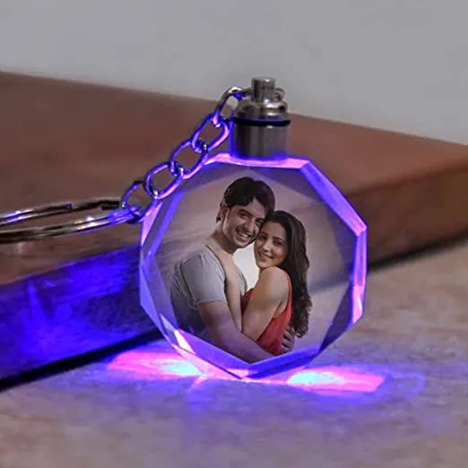 Personalized Multicolor LED Keychain