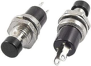 XLX 50pcs Black Cap 7mm Mini Lockless SPST Momentary Micro OFF Switch 2 Pin Push Button ( AC 120V/6A or AC 250V/3A ) Assortment Kit