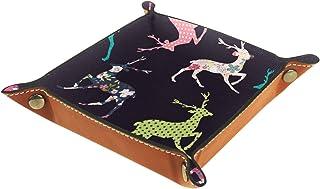 Vockgeng Cerf Animal imprimé Boîte de Rangement Panier Organisateur de Bureau Plateau décoratif approprié pour Bureau à Do...
