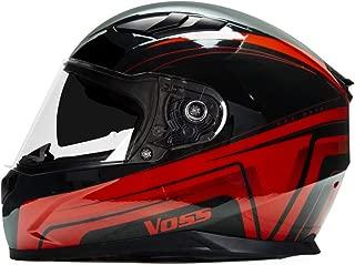 988 Moto-1 Full Face Gloss Red Katana Helmet DOT with internal eye shade - Medium