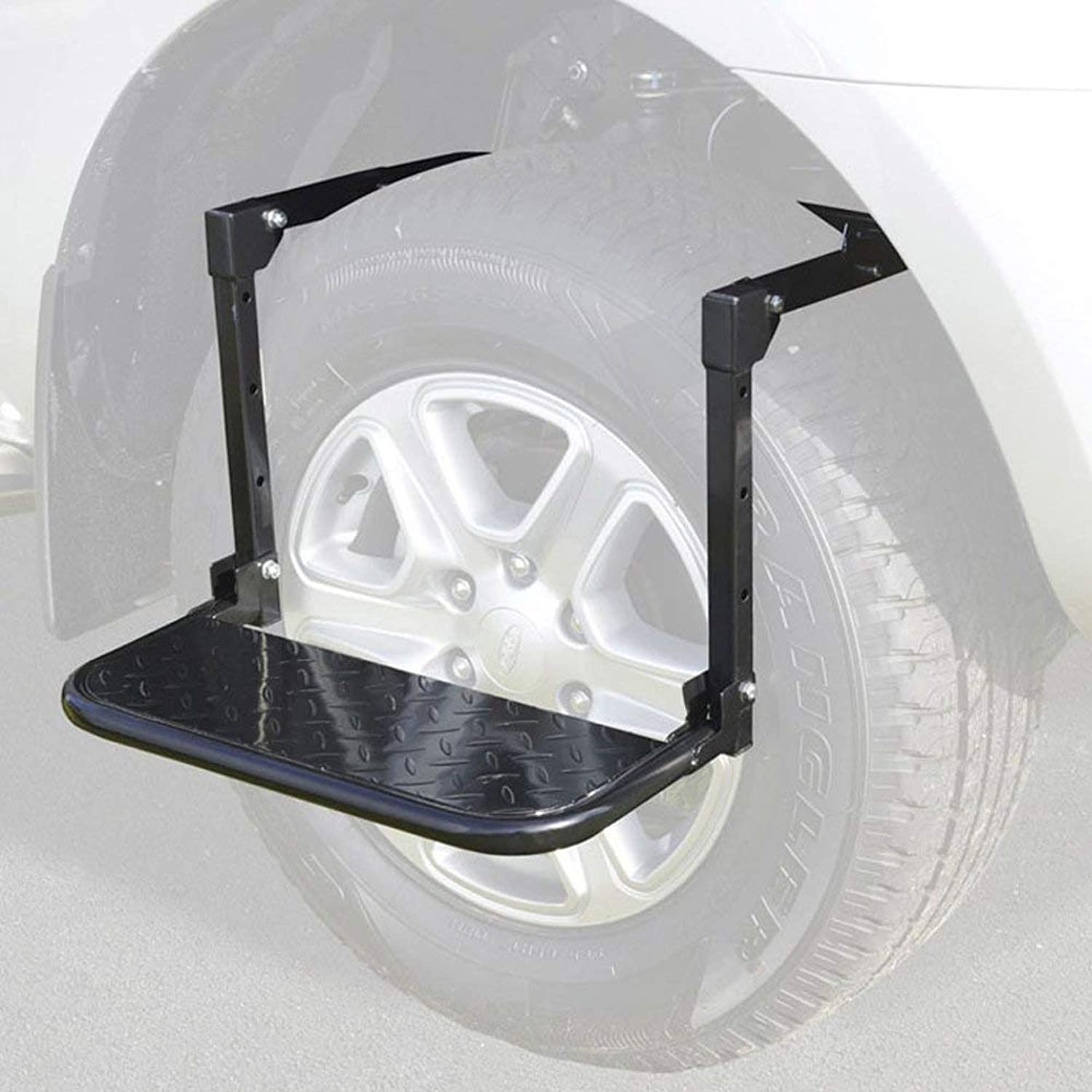 Truck SUV Tire Step Attachment,for Full Size Truck Car SUV,Heavy Duty Tire Wheel Service Step Ladder Foldable
