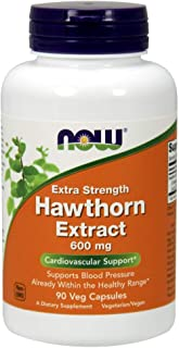 Now Foods - Hawthorn Extract Extra Strength 600 Mg. 90 Vegetarian Capsules