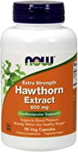 NOW Supplements, Hawthorn Extract 600 mg, Extra Strength, Cardiovascular Support*, 90 Veg Capsules