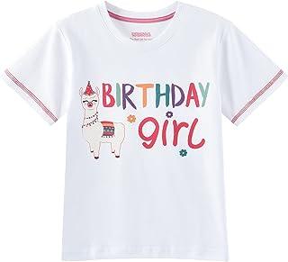 Camiseta de Manga Corta de Alpaca Llama Birthday Girl T-Shirt