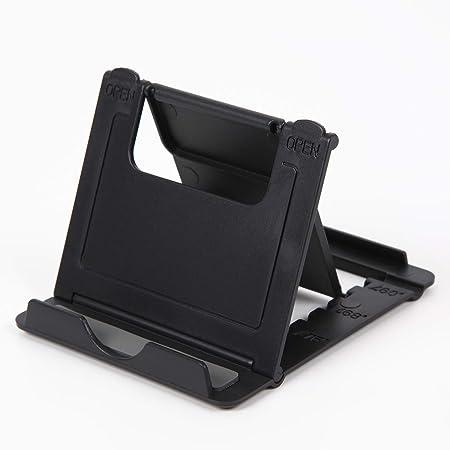 スマホ タブレット スタンド 角度調整可能 折りたたみ 自宅 携帯 出張 旅行 (ブラック)
