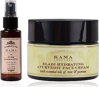 Pure Rose Water - 50 ML & Eladi Hydrating Ayurvedic Face Cream - 25 GM
