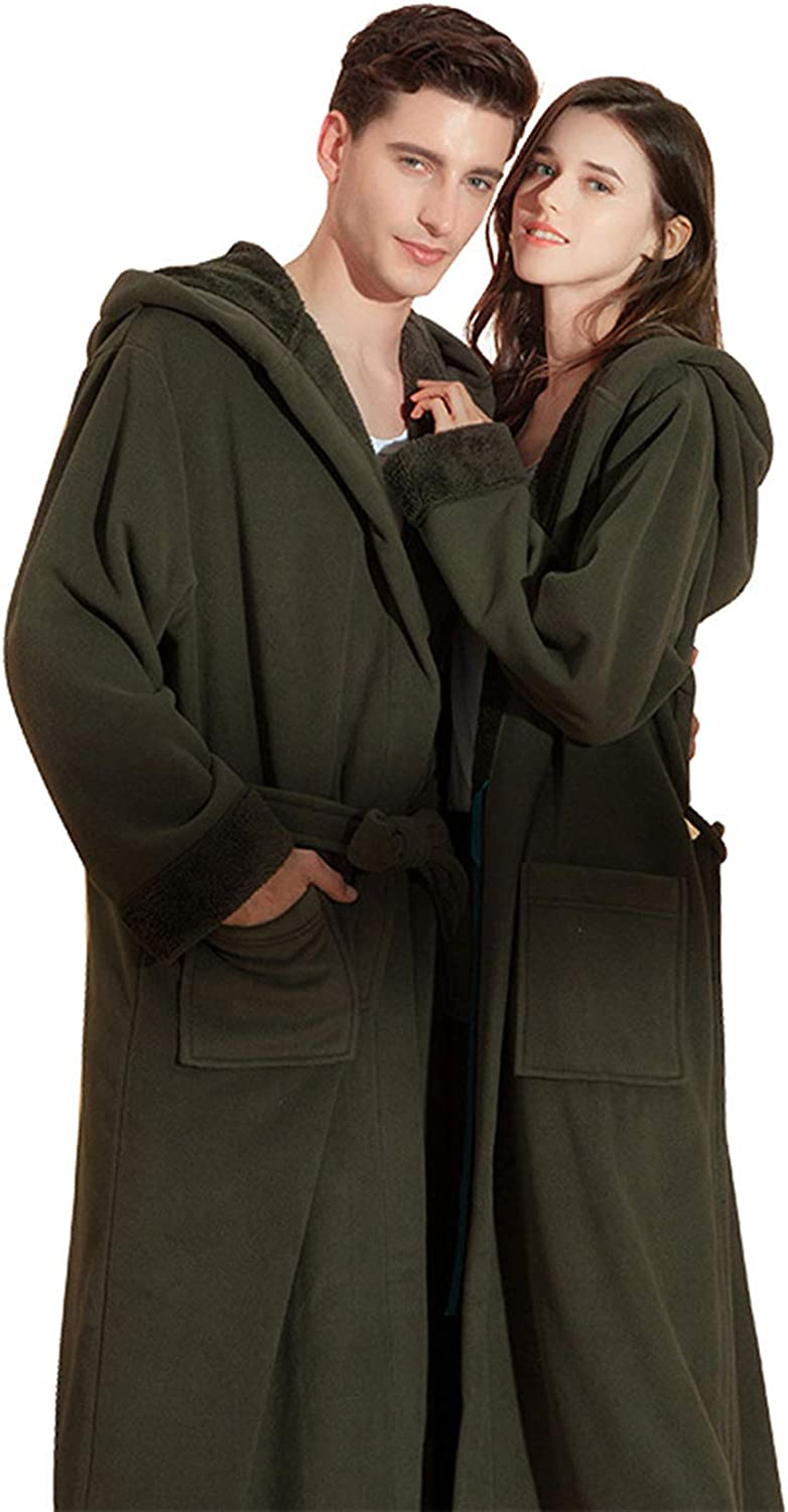 DINDO Soft Hooded Bathrobe Lightweight High material OFFicial Fuzzy R Robe His Her and