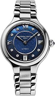 Frederique Constant Women's FC306NHD3ER6B 'Delight' Blue Mother of Pearl Diamond Dial Automatic Watch