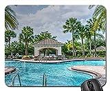 Mauspad - Resort Pool tropische Architektur Pavillon Sommer