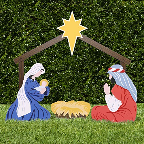 Holy Family PVC Outdoor Nativity Scene