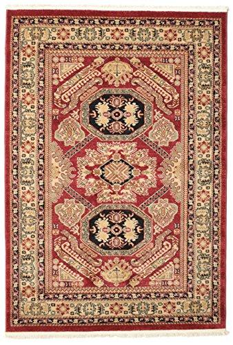 FeelGoodRugs Kazak Mirvan Tapis Oriental en Laine Marron 140 x 200 cm