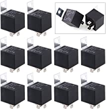 Swpeet 10Pcs 12V 30/40 Amp 5-Pin SPDT Electrical Relays Kit Perfect for Automotive Setups, Car Sound Systems and Security Systems