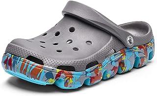 FDSVCSXV Mens Garden Clogs Mules, Anti-Slip Water Shoes Outdoor Beach Shower Breathable Sandals Slippers,E,39