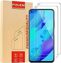 [2 Pack] PULEN for Huawei Nova 5T Screen Protector,HD Clear Scratch Resistant Bubble Free Anti-Fingerprints 9H Hardness Te...