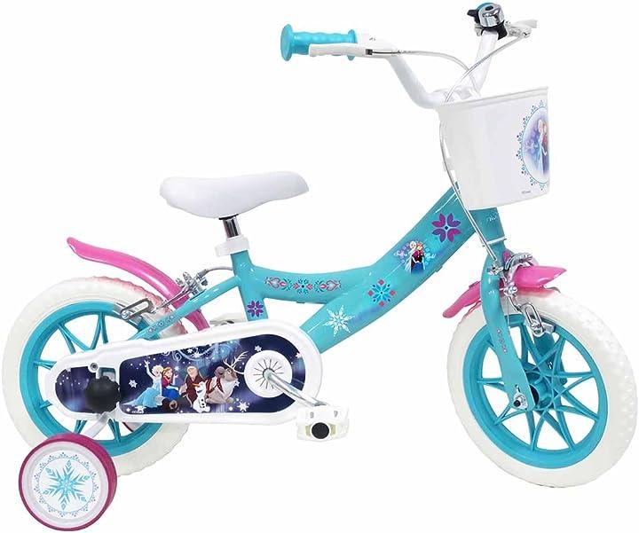 Bicicletta disney frozen per bambini di 3-5 anni, blu, ruote 30,5 cm (12
