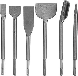 Cincel SDS Plus, 6 Piezas Juego de Brocas de Cincel para Martillo Rotativo Eléctrico, Juego de Accesorios de Herramientas Eléctricas para Eliminar Paredes, Azulejos y Cemento