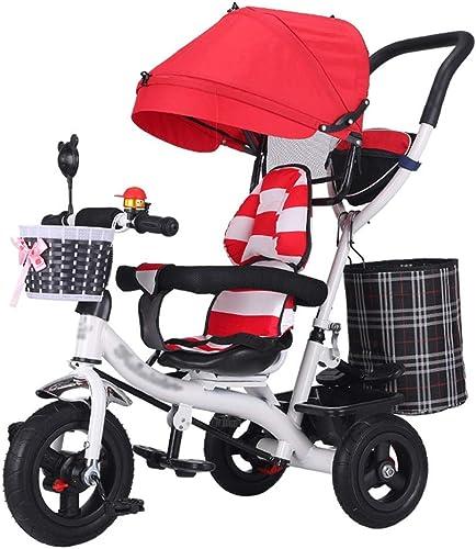 Mercancía de alta calidad y servicio conveniente y honesto. 4-en-1 Cochecito de bebé Trike Trike Trike Bike Marco de Acero de Alto Carbono Carro para Niños con toldo Ajustable y arnés de Seguridad para Niños de 6 Meses a 6 años  Esperando por ti