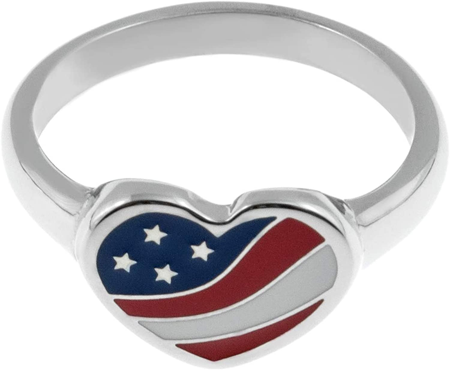 Joyful Sentiments Patriotic Attention Deluxe brand Jewelry Steel Fla American Stainless