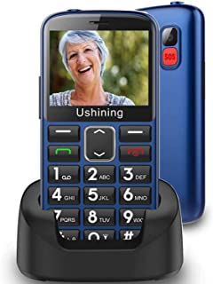 "3G Dual Sim Big Button Mobile Phone Unlocked for Elderly,2.4"" Large Screen,Hearing Aid Compatible Easy to Use Sim Free Bas..."