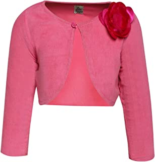 A Little Fable Girls Corduroy Shrug Long Sleeves - Pink
