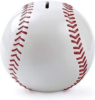 FORLONG FL2037 Ceramic Baseball Piggy Bank Sports Coin Bank Bedroom Decor for Boys and Girls Kids Toys
