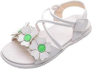 Fossen Zapatos de Princesas con Flores Dibujos Animados para Niña - Sandalias Niña Verano Baratas Playa Casual Fondo Suave