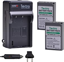 Tectra 2-Pack BLS-5 Battery and Charger Kits for Olympus BLS-5, BLS-50, PS-BLS5 and Olympus OM-D E-M10, PEN E-PL2, E-PL5, E-PL6, E-PL7, E-PM2, Stylus 1
