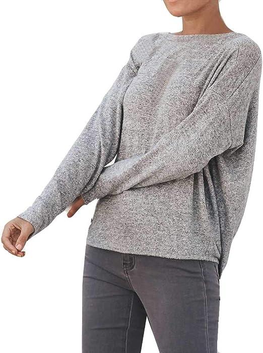 Ronamick Camisetas Invierno Mujer Fiesta Blusa Transparente ...