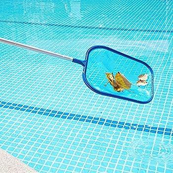 KKFG Pool Hand Leaf Skimmer Net with 17-41 inch Telescopic Pole