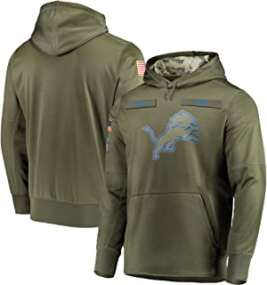 Dunbrooke Apparel Detroit Lions Olive Sideline Therma Performance Pullover Hoodie