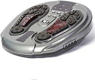 リモコン 足裏マッサージ機、空気圧縮、足指マッサージおよび家庭でのストレス解消のための熱を伴う電気指圧足裏マッサージ インテリジェント, gray