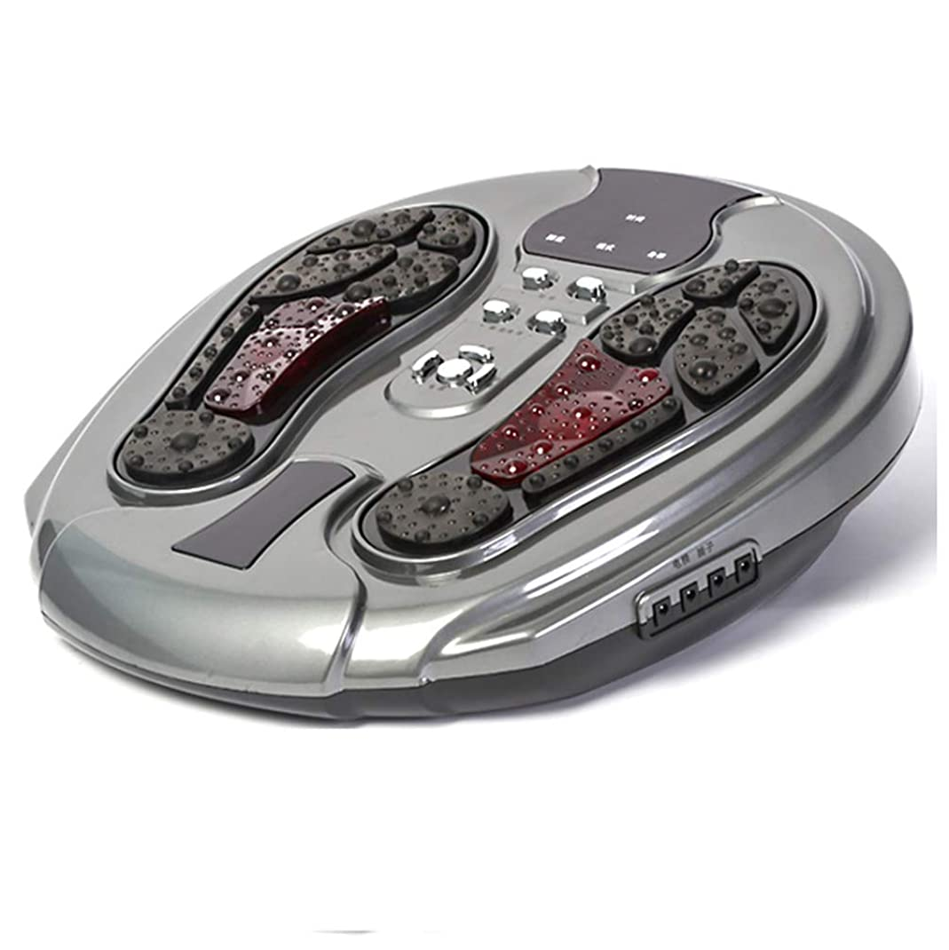 唯一乗算リモコン 足裏マッサージ機、空気圧縮、足指マッサージおよび家庭でのストレス解消のための熱を伴う電気指圧足裏マッサージ インテリジェント, gray