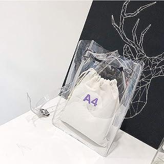 ビニールバッグ 透明 大容量 クリアバック ショルダーバッグ 斜めかけバッグ 手提げ 痛バッグ プールバッグ 水泳 アウトドア PVC バッグ レディース 海 旅行 通勤 …