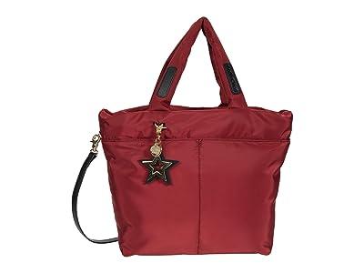See by Chloe Joy Rider Small Tote w/ Crossbody Strap (Smoked Red) Tote Handbags