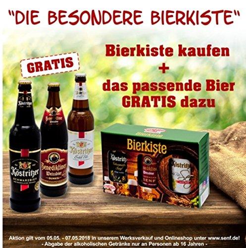 Altenburger Original Bierkiste mit passenden Bieren - drei mit Bier verfeinerte Senfsorten und Bier als Geschenk-Set (6-teilig)