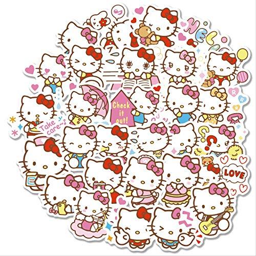YUHANG Sticker Girl Heart Handbook Sticker Carino Hello Kitty Notebook Adesivo per Casco da Viaggio 40Pcs