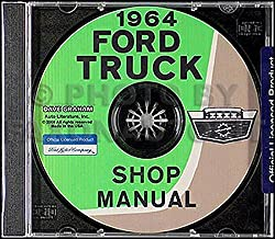 1964 Ford Truck F100 F250 F350 P100 Factory Shop Service Repair Manual Reprint