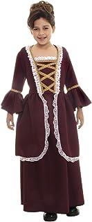 Underwraps Kids Girls Colonial Historical American Revolution Halloween Costume