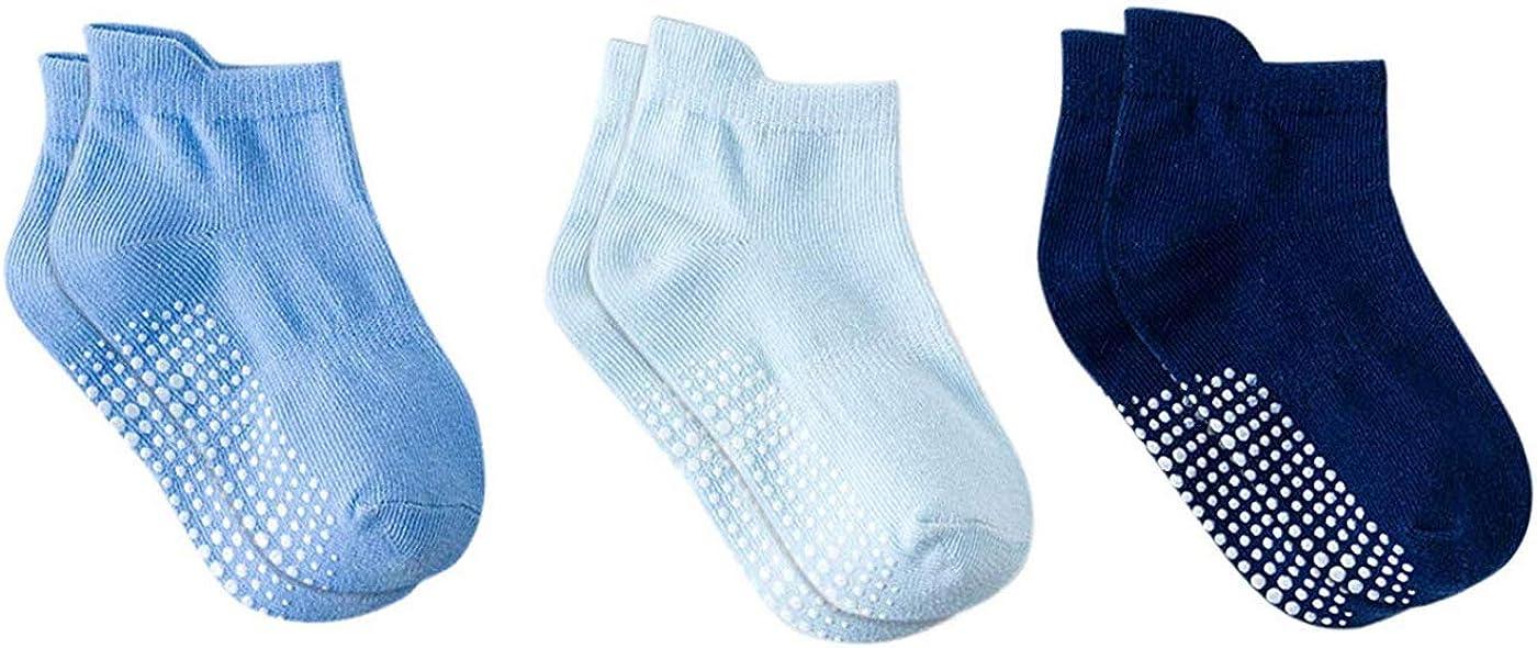 DEBAIJIA 3 Paar Baby Socken Rutschfeste Baumwolle Kleinkinder Jungen M/ädchen 0-5 Jahre Alt Bequem Casual Weich Niedliche Warme Herbst Winter