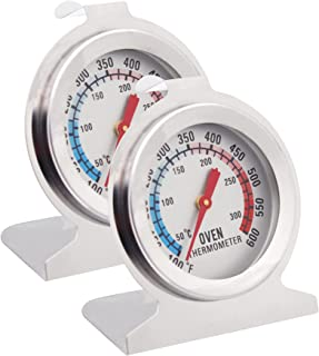 Anvin Oven Thermometers Large Dial Oven Grill Monitoring Cooking Thermometer with Dual-Scale 50-300°C/100-600°F for BBQ Ba...